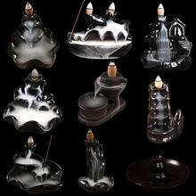 Refoulement Incense Burner Lotus Back Flow Ceramic Stick Incense Holder Porcelain Home Decor Smoke Waterfall Aromatherapy Censer
