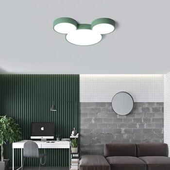 Moderne Led Decke Lichter Kreative Farbe Leuchte Kinder Kinder Schlafzimmer Mickey Leuchte Fernbedienung Lampe Dimmbare Glanz