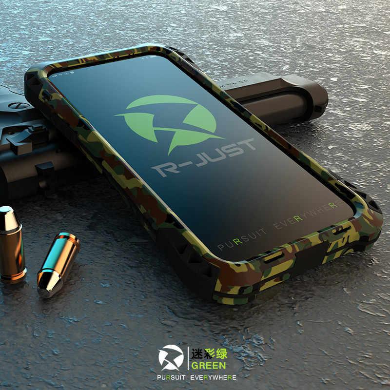 Schokbestendig Stofdicht Koolstofvezel Gorilla Gehard Glas Aluminium Metal Armor Case Voor iphone 7 8 6S 6 Plus 5 5S SE Cover Shell