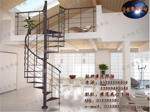 Hangzhou Column Spiral Staircase Spiral Staircase Column Welded Wrought  Iron Spiral Staircase Stairs Steel Staircase Art