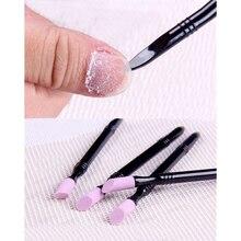 1 шт. двойного конце измельчения Ручка DIY мертвой кожи для удаления кутикулы Дизайн ногтей инструмент