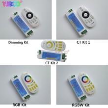 все цены на DC12-24V 2.4G 4 Zone Long plastic shellpress Wireless Remote Dimmimg CT/RGB/RGBW LED Remote Controller for 5050 3528 LED Strip