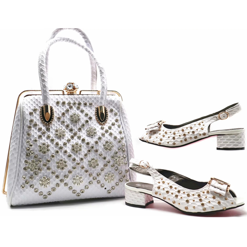 1 African Neueste mit Mujer Design italienische Weste Schuhe Zapatos von Tasche 7 2 Niet 4 3 2018 Moda Taschen 6 5 Sets und Set edoCrxBW