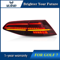VLAND Full Set Rear Lamp For Golf 7 MK7 Tail Lights 2013 2018 Red Color Rear Light