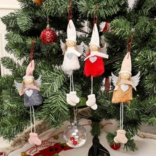 Decoration Hanging Christmas Snowman Tree Pendant Ornaments Gift Santa Claus Elk Reindeer Toy Doll Hang Decorations