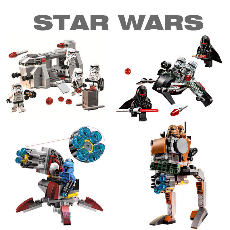 Bela Pogo Compatible Legoe Space Star Wars Action Figures e Hotsale 4 In 1 Building Blocks Bricks toys for children toys in space