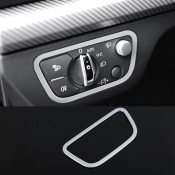 For Audi Q5 FY 2018 2019 CHROME HEAD FOG LIGHT LAMP ADJUST BUTTON SWITCH CONTROL COVER ACCESSORIES image
