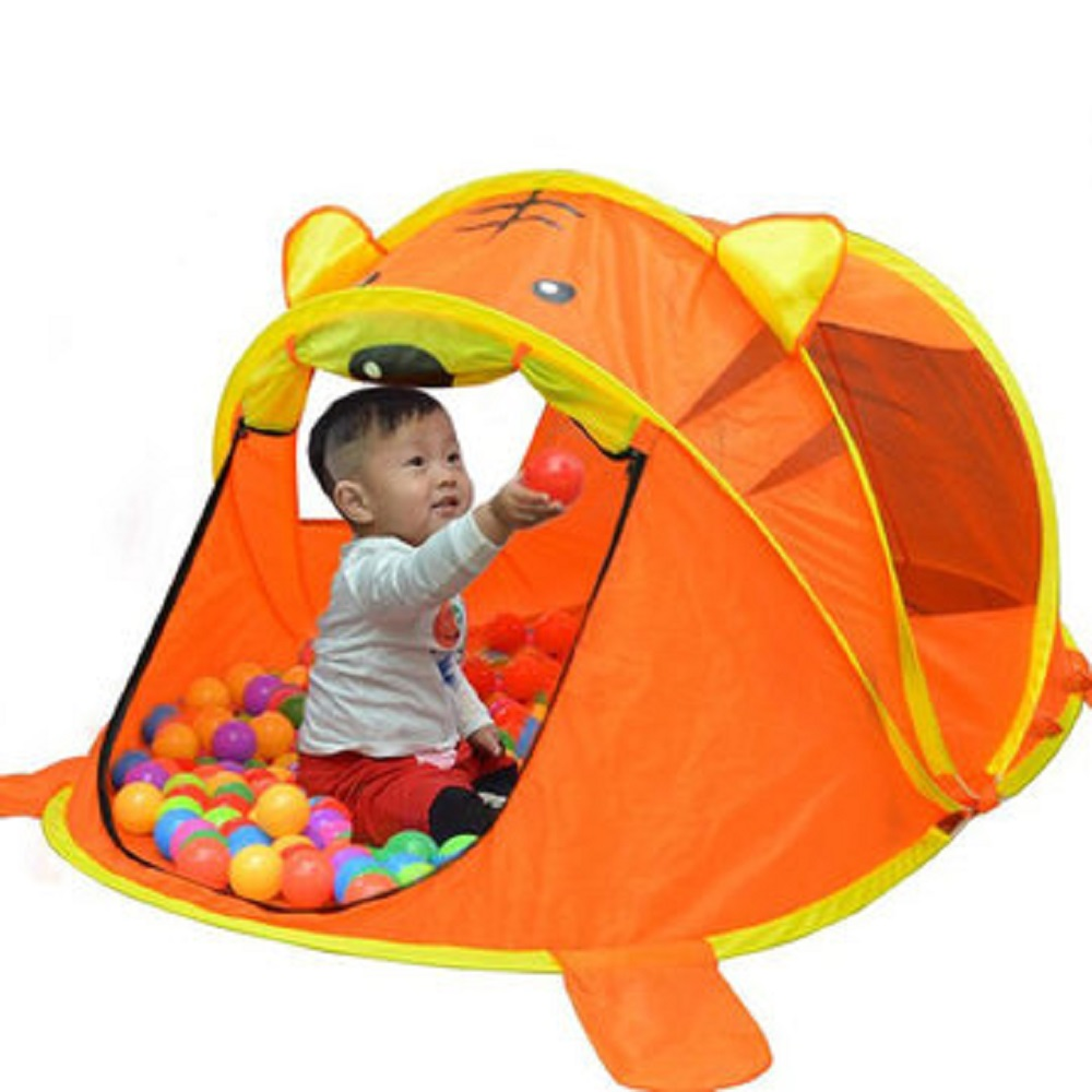 Cute Cartoon Toy Children's Tent Baby Ball Pool Tent For Kids Play House Tenda Infantil Child Cabin Folding Tent Toys For Girls image