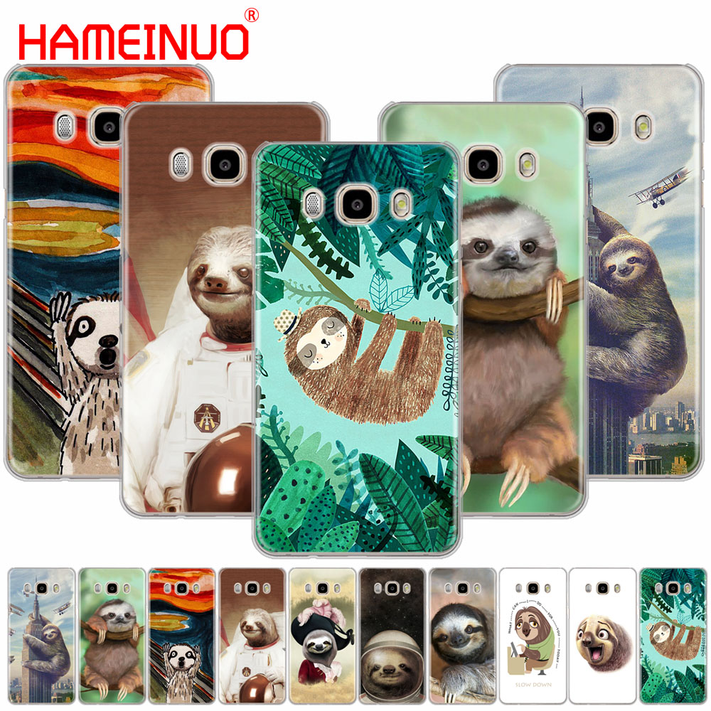 HAMEINUO Caffeinated Sloth animal cover phone case for Samsung Galaxy J1 J2 J3 J5 J7 MINI ACE 2016 2015 prime