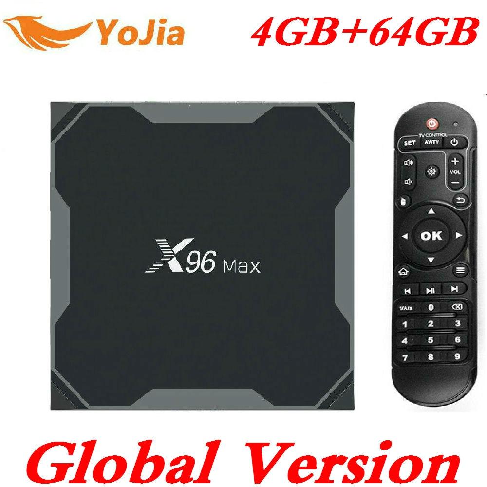 Amlogic S905X2 Android 8.1 TV BOX X96Max Mini 4K Smart Media Player 4GB RAM 64G TVBox X96 Max DDR3 QuadCore 1000M 2.4G&5GHz WifiAmlogic S905X2 Android 8.1 TV BOX X96Max Mini 4K Smart Media Player 4GB RAM 64G TVBox X96 Max DDR3 QuadCore 1000M 2.4G&5GHz Wifi