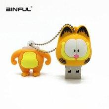 new usb 2.0 cartoon Garfield USB flash drive 128gb 4GB 8GB pendrive 16GB pen 32GB 64GB mini memory stick free shipping