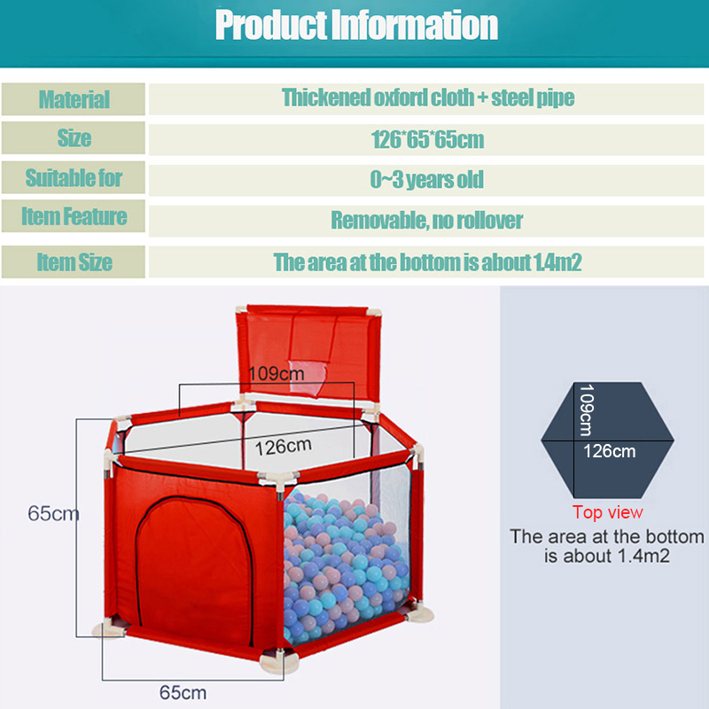 IMBABY Baby Playpen With Base Suction Cup Suitable For 0 To 6 Years Old Baby