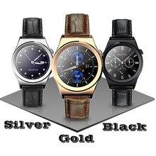 Voll Abgerundeten Bluetooth Smart Uhren Armbanduhr Surpport Pulsmesser Leder Smartwatch mit Arabisch Thai für IOS Android