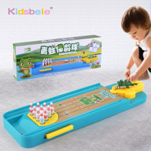 Mini Desktop Bowling Game Toy Funny Indoor Parent-Child Interactive Table Sports Game Toy Bowling Educational Gift For Kids(China)