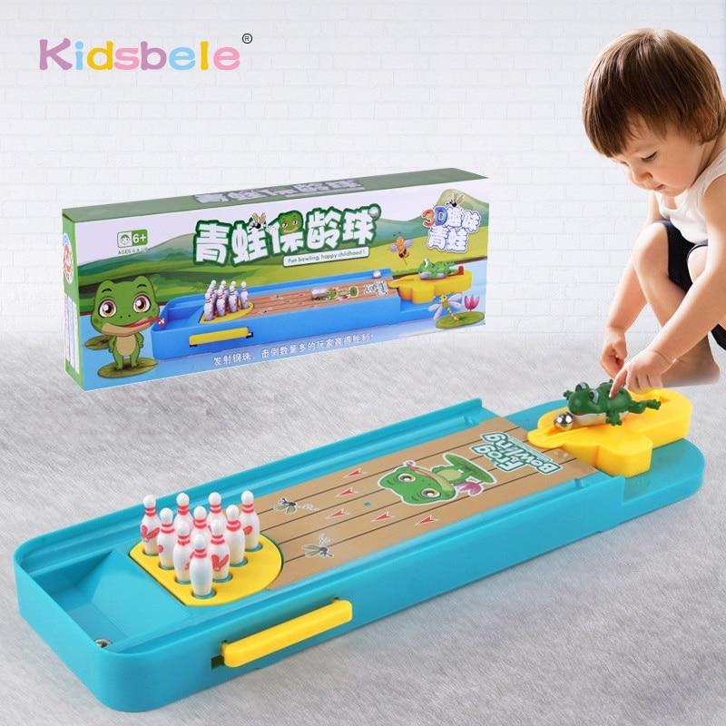 купить Mini Desktop Bowling Game Toy Set Fun Indoor Parent-Child Interactive Table Game Bowling Developmental Toy по цене 612.66 рублей