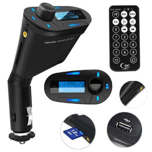 Car MP3 music song Player with perfect high-quality stereo Wireless FM Transmitter and USB SD MMC Slot 3.5mm with Remote
