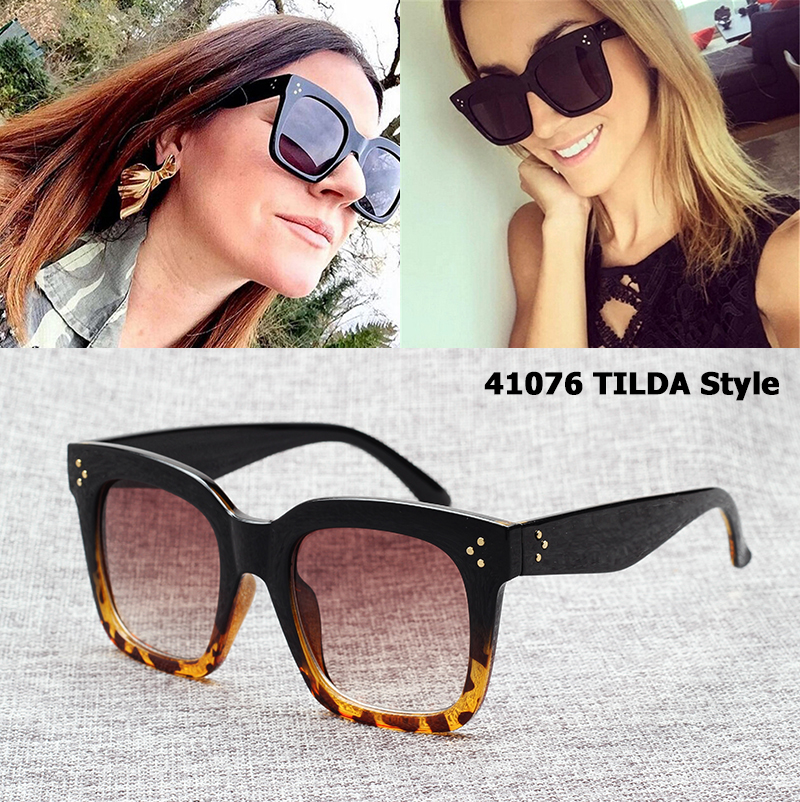 JackJad New Fashion 41076 TILDA Style Three Dots Sunglasses Women Gradient Brand Design Vintage Square Sun Glasses Oculos De Sol
