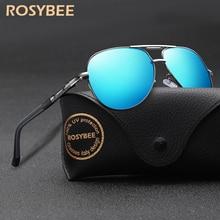 BIG size Men Vintage Aluminum Polarized Sunglasses Brand Sun