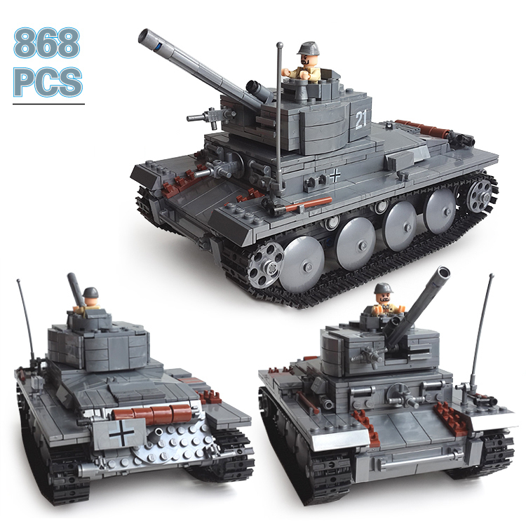 Model building kits compatible with lego city Century Military PZKPFW-II tanks blocks Educational toys hobbies for children ausini model building kits compatible with lego city transportation train 1025 3d blocks educational toys hobbies for children
