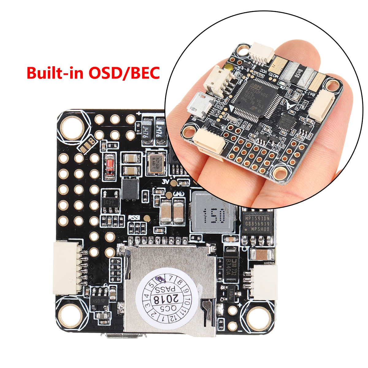 for Betaflight F4 PRO V2 Flight Controller Built-in OSD/BEC Drone Low Noise Stable for FPV Racing Upgraded Latest betaflight omnibus f4 pro v3 flight controller built in osd barometer sd blackbox 30 5x30 5mm for fpv quadcopter rc drone diy