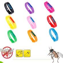 5pcs Mosquito Killer Silicone Wristband Summer Mosquito Repellent Bracelet Anti Mosquito Band Children Insect Killer