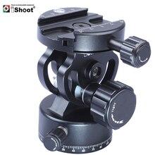 Ishoot braçadeira panorâmica panorâmica, cabeça esferográfica de metal 2d 360 com painel, para câmera de arca fit, tripé com placa de liberação rápida monopé