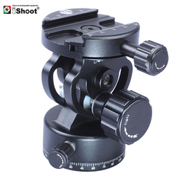 iShoot All-metal 2D 360 Panning Panoramic Panorama Clamp Head Ballhead for Arca Fit Camera Quick Release Plate Tripod Monopod