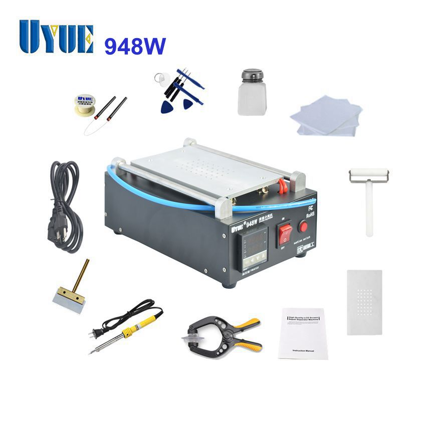 UYUE 948W Touch Glass Panel LCD Screen Separator for Mobilephone Repair without Vacuum Pump built in air vacuum pump ko semi automatic lcd separator machine for separating assembly split lcd ts ouch screen glas