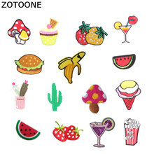 ZOTOONE Food Patches Cake WatermelonIron Stickers on Clothes Heat Transfer Applique Embroidered Applications Cloth Fabric G