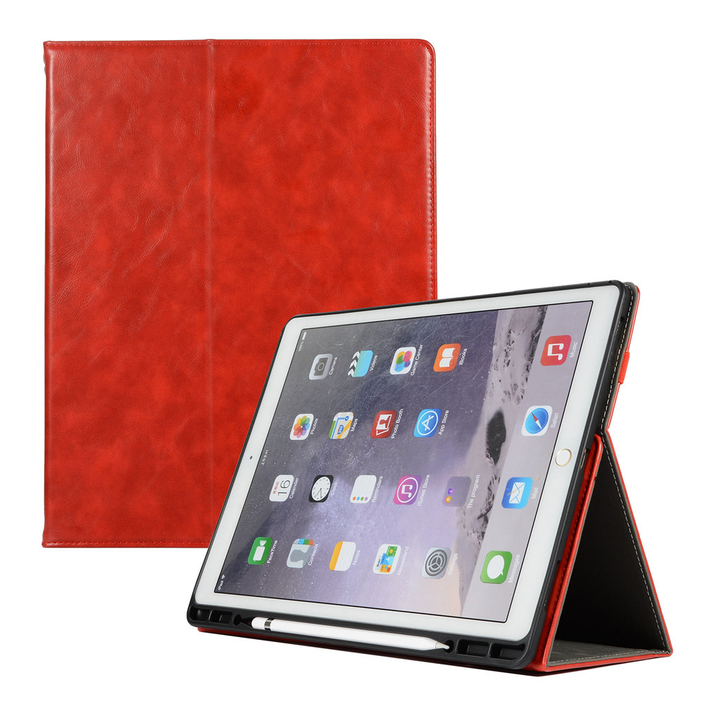 Premium Retro Flip PU Smart Cover Protective Stand Case With Pencil Holder Hand Strap For iPad Pro 12.9 2015 A1584 A1652 Tablet