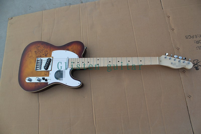 все цены на 100% New Arrival  sunburst Electric Guitar with Koa top  tele34a онлайн