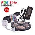 RGB LED Strip Light Waterproof IP65 SMD5050 5m 60LED/M Flexible LED RGB Lamp DC12V,IR Remote Controller,5A Power Supply,Receptor