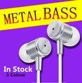 Cáscara del metal de alta calidad de la manera fresca cena bass auriculares para xiaomi iphone 5 5s 4 samsung mp3 mp4 sony