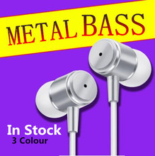 High quality Fashion cool metal shell Supper Bass Earphone For IPhone 5 5S 4 Samsung MP3 MP4 Xiaomi Sony