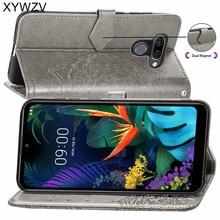 For LG K50 Case Shockproof Cover Luxury Flip Wallet Soft Silicone Phone Card Holder Fundas Back