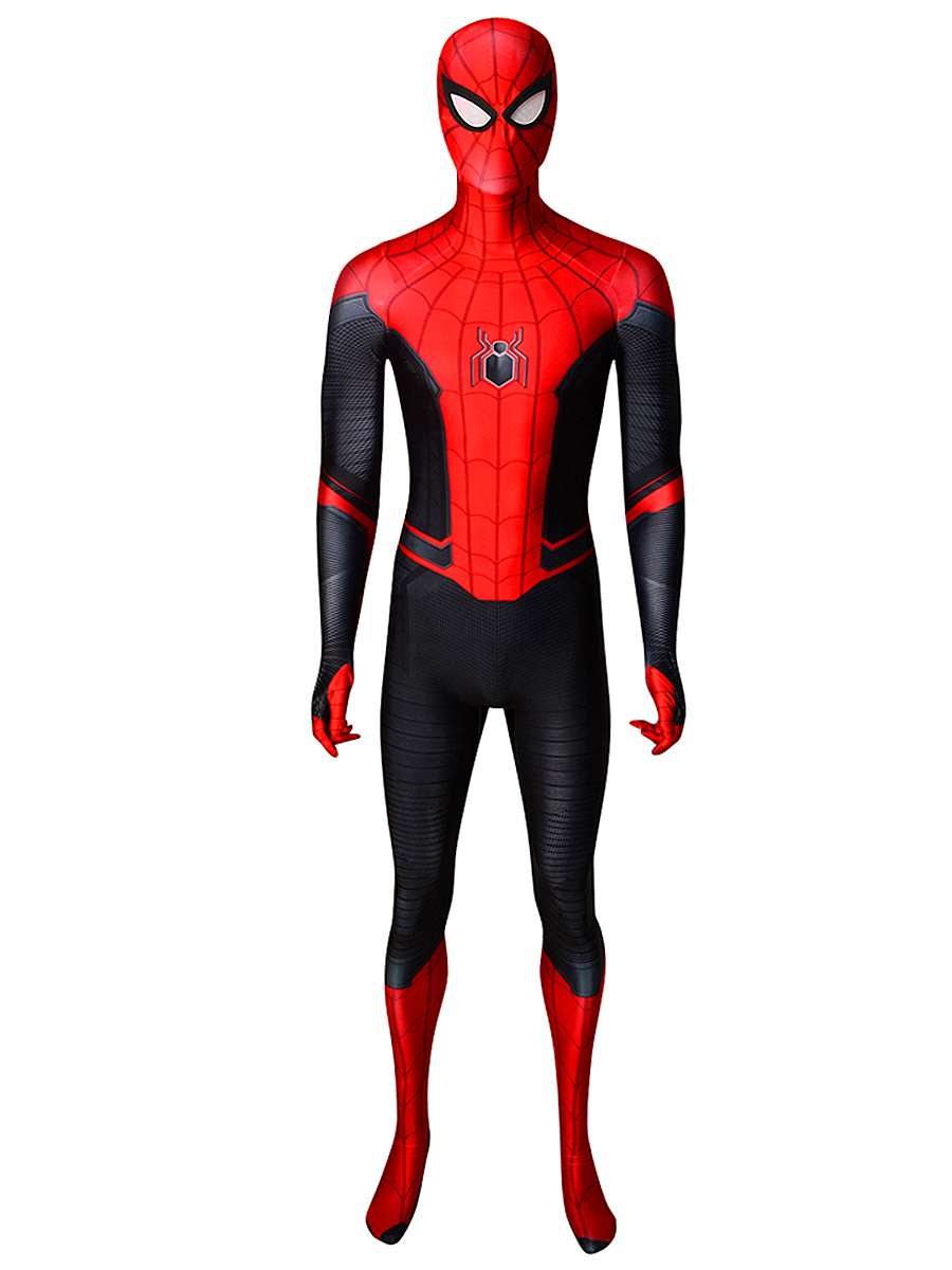New Spider Man Far From Home Cosplay Costume Zentai Spiderman Superhero Bodysuit Spandex Suit for Adult