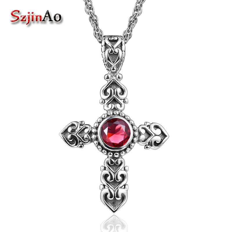 Szjinao vintage style 925 sterling silver cross restoring ancient women pendant carving decorative pattern wholelsaleSzjinao vintage style 925 sterling silver cross restoring ancient women pendant carving decorative pattern wholelsale