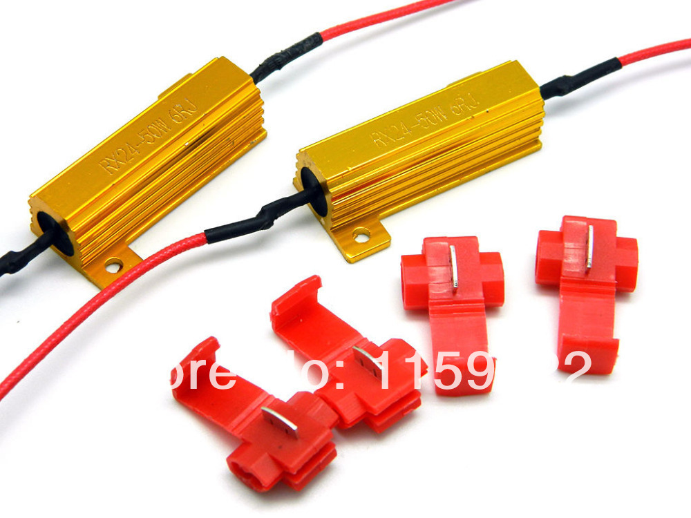 2pcs station 50W 6o not load resistor for fix fast flash LED turn signal scar motorcycle