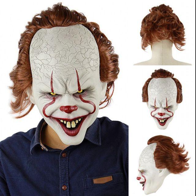 Ужас! Хэллоуин страшная маска клоуна длинные волосы призрак страшная маска реквизит грудж призрак Хеджирование маска зомби реалистичный Латекс маски