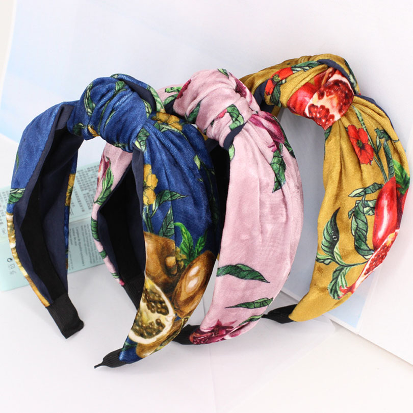 Haimeikang Flower Elastic Headband Hairband Fabric Cross Knotted Headband Women Girls Hair Hoop Bands Accessories Wrap   Headwear