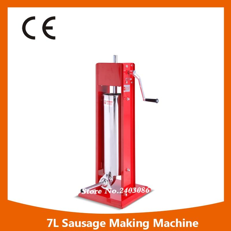 Professional vertical manual 7L sausage filler food processing making machine for sale
