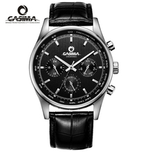 Marca de lujo relojes hombres de Negocios clásicos mens erkek kol saati impermeable # CASIMA cuarzo wirst 5114
