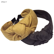 DPSaiLYY 1PC Winter Women Hair Accessories Top Knot Turban Headband Solid Velvet Hairband Non Slip Stay on Knotted Headband knot front pep hem striped top with skirt