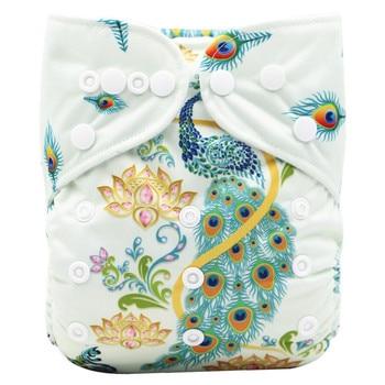 Nette Grün Baby Tasche Tuch Windeln Position Digital Print Pul