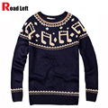 New Arrival Men's Sweater Casual O-neck Slim Fit Long Sleeves Knitted Men Sweaters Pullover M~XL Green Navy Blue Mens Jumpers