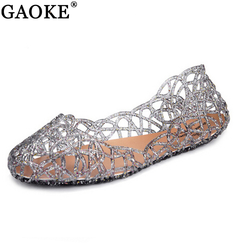 GAOKE 2018 Summer Shoes Casual Jelly Flats Women Sandals