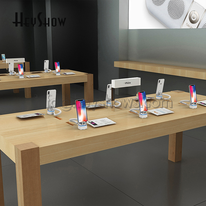 10x Mobile Phone Security Stand Charging For Iphone Burglar Alarm System Cellphone Anti Theft Display Holder In Apple Store