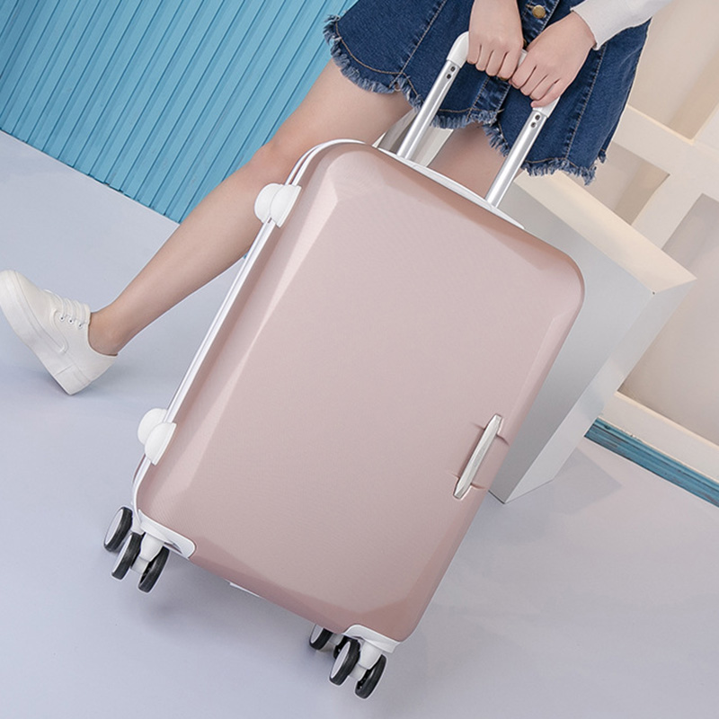 ФОТО Hot Selling Trolley Travel Bag Case Rolling Luggage Suitcase Spinner Wheels ABS Luggage Suitcase Boarding Box for Students