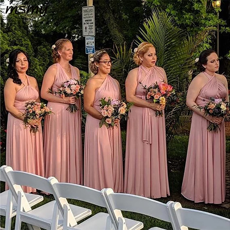 New Simple Dusty Rose   Bridesmaid     Dress   Sleeveless Pleat Formal   Dress   Mismatched Party   Dress     Bridesmaid     Dresses