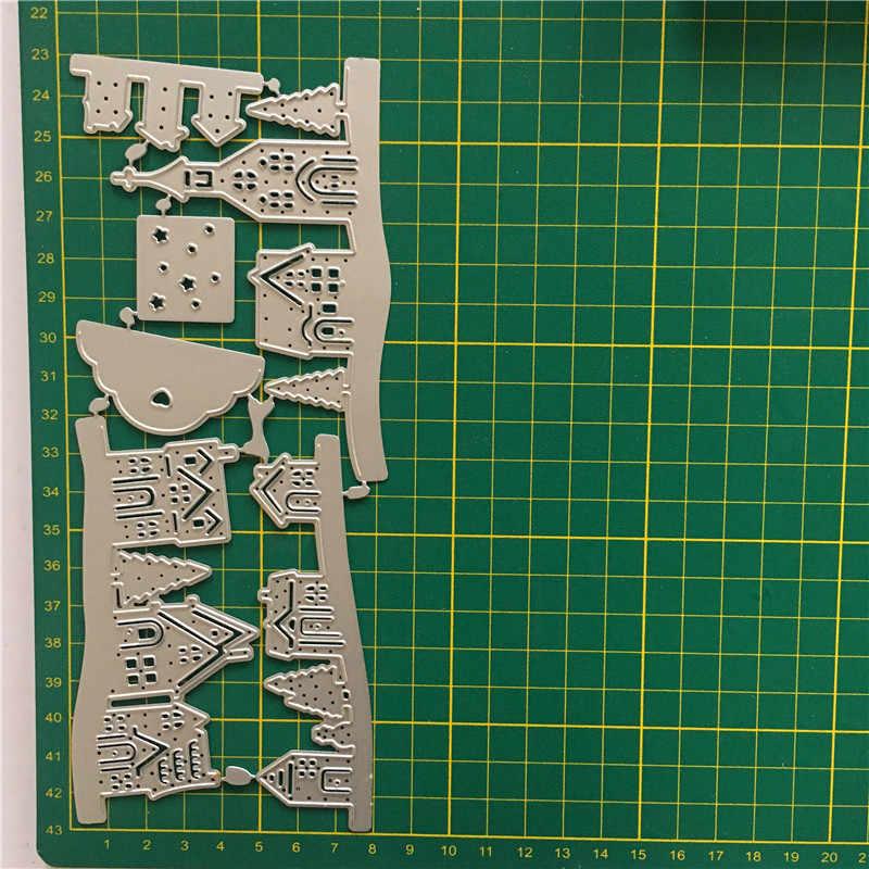 3D بيت الأشكال المعادن قطع يموت الاستنسل سكرابوكينغ ألبوم صور ورق بطاقة النقش الحرفية DIY قطع يموت